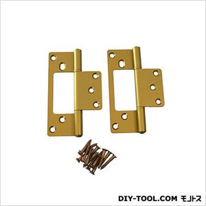 フラッシュ蝶番 GC色 102mm 17446 1袋(2枚)|diy-tool
