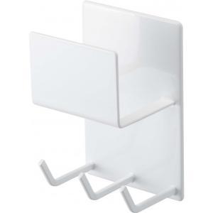 山崎実業 マグネットバスルームクリーニングツールホルダー ミスト ホワイト BT-CL WH|diy-tool