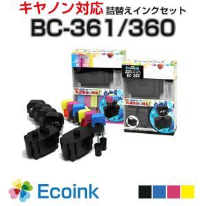 純正6個分 BC-361/BC-360 [キヤノン/Canon対応] 詰め替えインク カラー/ブラック 4色パック BC361 BC360 ※BC-341/BC-340共通対応品 diyink