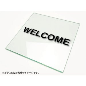 カッティングシート文字 切り文字ステッカー 3M製屋外用 WELCOME/ウェルカムSSサイズ|diykanbanstore