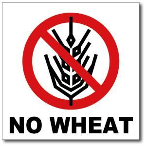 NO WHEAT/小麦は使用していませんの禁止食品表示ステッカー|diykanbanstore