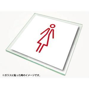 ピクトサイン 絵文字サイン ピクトグラム 女子トイレ2ステッカーLサイズ diykanbanstore