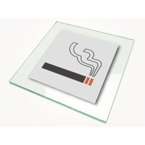 ピクトサイン 絵文字サイン ピクトグラム 喫煙所ボードサインLサイズ|diykanbanstore
