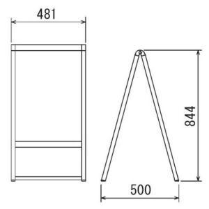スタンド看板 A型看板 店舗看板 オリジナル看板 特注看板 ベルク240スタンドサイン+オリジナルプリントシート加工込み450x600 基本デザイン無料|diykanbanstore|02