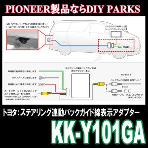 パイオニア/KK-Y101GA トヨタ・ステアリング連動バックガイド線 表示アダプター Carrozzeria正規品販売・デイパークス|diyparks