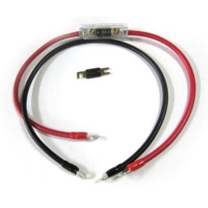 700Wクラス インバーター用 14sq 80Aヒューズ2個 ヒューズBOX付ケーブルセット|diystore-pcp