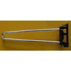 座卓用テーブル脚 取り付けビス付です。  サイズ:8×330mm 材質:鉄 仕上り:脚部:クロームメ...