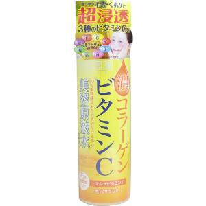 贅沢なうるおい♪ビタミンC誘導体とコラーゲン配合の超潤化粧水。さらに7種のマルチビタミン配合で、毛穴...