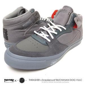スラッシャーフットウェア×スニーカーウルフ コラボ スニーカー メンズ THRASHER FOOTWEAR×SNEAKERWOLF BUCHANAN DOG VULC (TS-151-SW) dj-dreams
