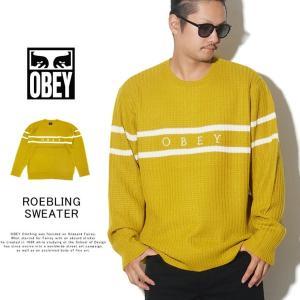OBEY オベイ クルーネックニット セーター メンズ ROEBLING SWEATER 151000041 2019 秋冬 新作|dj-dreams