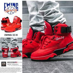 EWING ATHLETICS ユーイング バッシュ EWING 33 HI スニーカー メンズ おしゃれ ブランド バスケットシューズ バスケットボール ハイカット 赤|dj-dreams