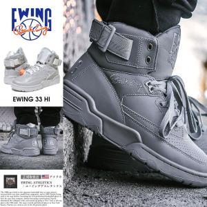 EWING ATHLETICS ユーイング バッシュ 33 HI スニーカー メンズ おしゃれ ブランド バスケットシューズ バスケットボール ハイカット 灰|dj-dreams