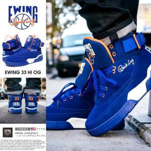 EWING ATHLETICS ユーイング バッシュ EWING 33 HI スニーカー メンズ おしゃれ ブランド バスケットシューズ バスケットボール ハイカット 青|dj-dreams