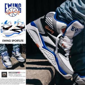 EWING ATHLETICS ユーイング バッシュ EWING SPORTLITE スニーカー メンズ おしゃれ ブランド バスケットシューズ バスケットボール ハイカット 白|dj-dreams