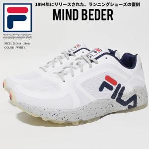 FILA フィラ スニーカー メンズ 厚底 白 MINDBENDER FHE113 バスケットボール...