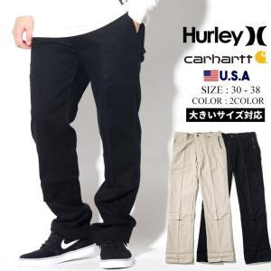 Hurley × Carhartt コラボ コットンパンツ メンズ ストレッチ 冬 コーデ BV2684 大きいサイズ|dj-dreams