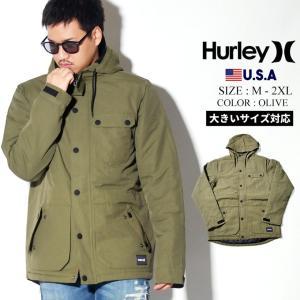 Hurley ハーレー ジャケット メンズ コーデ 冬 着こなし CI2657 ボア 大きいサイズ