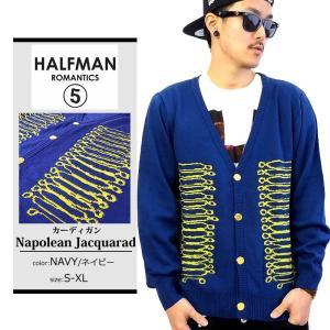 カーディガン 秋冬 メンズ ブランド 薄手 学生 ニット セーター 大きいサイズ HALFMAN LAファッション トップス|dj-dreams