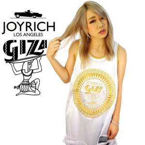 JOYRICH×GIZA ジョイリッチ ギザ メッシュ タンクトップ ブランド おしゃれ スポーツ 大きいサイズ 白|dj-dreams