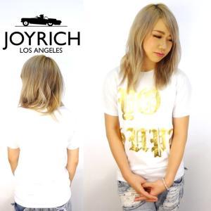 JOYRICH ジョイリッチ Tシャツ メンズ 半袖 秋冬 おしゃれ ゴールドプリント 白|dj-dreams