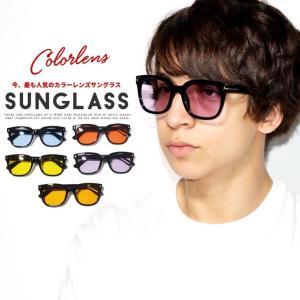 サングラス メンズ おしゃれ ウエリントン カラーレンズ トレンド ファッション 小物 眼鏡 メガネ アイウェア|dj-dreams
