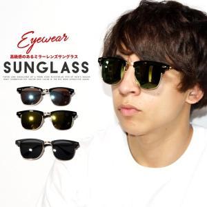 サングラス メンズ おしゃれ ブロー ミラーレンズ トレンド ファッション 小物 眼鏡 メガネ アイウェア|dj-dreams