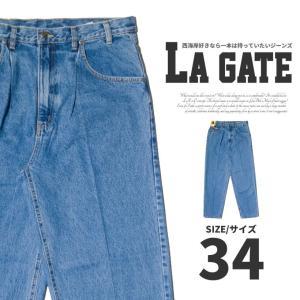 LA GATE エルエーゲート デニムパンツ ジーンズ メンズ 極太 ワイドパンツ dj-dreams