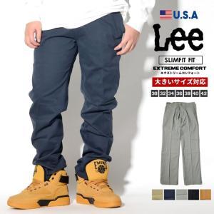 Lee チノパン メンズ ストレッチ 黒 大きいサイズ ストレート スリム ベージュ EXTREME COMFORT|dj-dreams