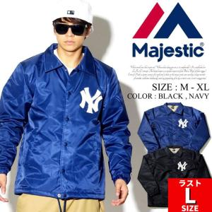 MAJESTIC マジェスティック コーチジャケット メンズ 秋冬 ブランド ボア ヤンキース NYロゴ 大きいサイズ|dj-dreams