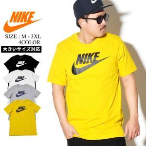 NIKE ナイキ Tシャツ メンズ 半袖 ロゴT プリント AR5004 USモデル ビッグシルエット|dj-dreams