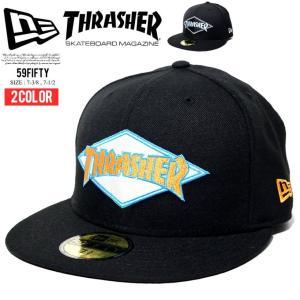 ニューエラ キャップ メンズ THRASHER スラッシャーコラボ ベースボールキャップ 帽子 New Era 59FIFTY スラッシャー|dj-dreams