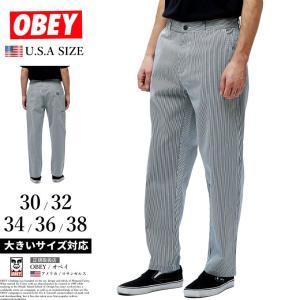 オベイ OBEY ワークパンツ メンズ カーペンター 142020131 大きいサイズ 2019秋 新作|dj-dreams