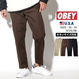 オベイ OBEY ワークパンツ メンズ スリムフィット 142020113 大きいサイズ 2019秋冬 新作|dj-dreams