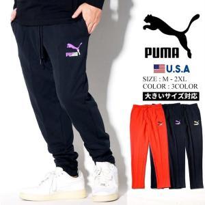 PUMA プーマ スウェットパンツ メンズ 細身 スリムフィット スポーツ 595257|dj-dreams