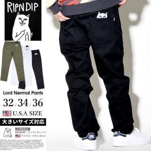 RIPNDIP リップンディップ チノパン メンズ ストレッチ スケボー ブランド ゆったり 大きいサイズ Lord Nermal Pants|dj-dreams