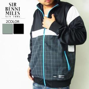 ジャージ トラックジャケット メンズ おしゃれ 黒 SIR BENNI MILES 大きいサイズ|dj-dreams