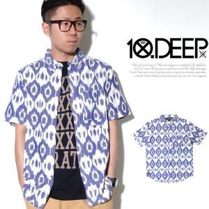 10DEEP シャツ メンズ 春 夏 半袖 カジュアル おしゃれ ブランド 総柄 大きいサイズ 父の日