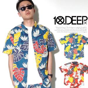 10DEEP アロハシャツ メンズ 春 半袖 カジュアル お...