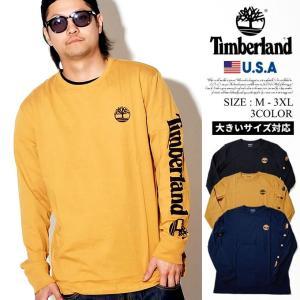 Timberland ティンバーランド Tシャツ メンズ ロンT 長袖 ロゴ TB0A1OHM 日本未発売モデル|dj-dreams