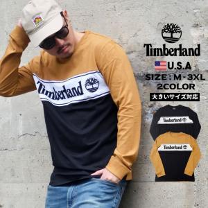 ティンバーランド Tシャツ メンズ 長袖 ブランド ロンt おしゃれ ロゴ 冬 コーデ TB0A1Z...