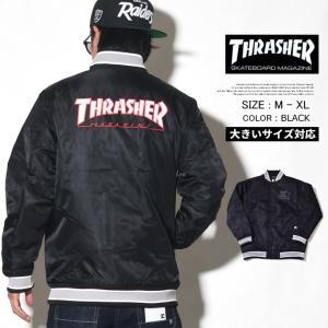 THRASHER × STARTER BLACK LABEL スタジャン メンズ STTH-1004|dj-dreams