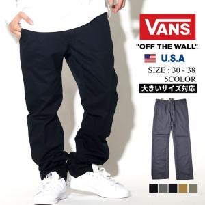 VANS バンズ チノパン メンズ AUTHENTIC CHINO STRETCH VN0A314 大きいサイズ|dj-dreams