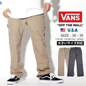 VANS バンズ ワークパンツ メンズ ダブルニー VN0A458A USモデル 2019秋 新作|dj-dreams