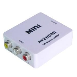 コンポジット(黄)映像をHDMIに変換するRCA/AVケーブルからHDMIへの変換アダプターです 入...