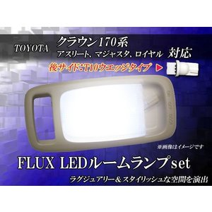 トヨタ クラウン170系(アスリート、マジェスタ、ロイヤル)T10ウエッジタイプ FLUXLEDルームランプ 5PCS 72連LED29 送料無料 dko