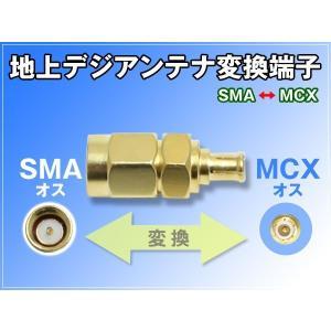 地デジタルアンテナSMAオス-MCXオス 変換端子 1個|dko