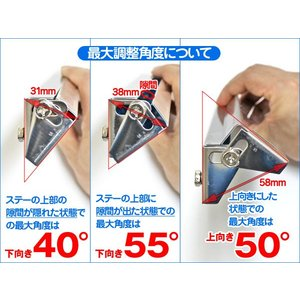 ナンバーステー ナンバープレート 角度調整 高さ調整 可能上から見ても隙間ができない!XP-304|dko|05