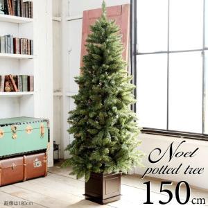 10月下旬入荷予約 クリスマスツリー 150cm クラシックタイプ ポットツリー(オーナメントなし)|dko
