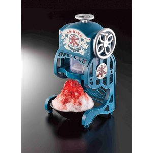 かき氷機 電動本格ふわふわ 氷かき器 ドウシシャ製 ブルー かき氷器 製氷カップ2個 DCSP-1851 即納|dko|04