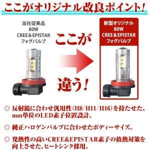 LEDフォグランプ H8 H11 H16 80W 汎用 後付け 改良版 最新LEDフォグランプ|dko|02